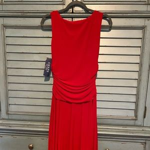 Chaps Red Party Dress Small
